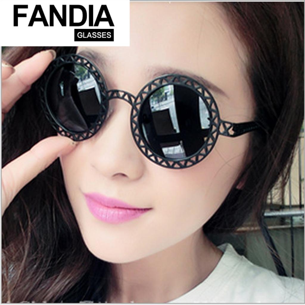 reflective circle sunglasses  bright reflective