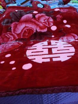 皮尔卡丹超柔加厚婚庆毯