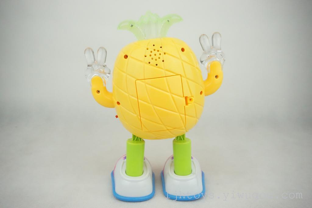 可爱电动菠萝机器人炫酷动感左右摇摆