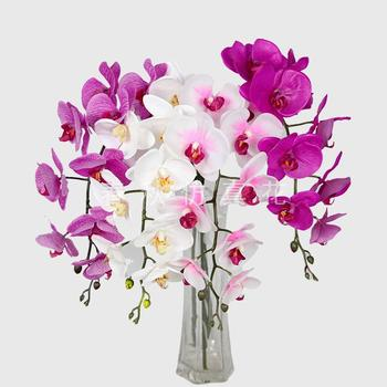 Artificial flower single rubber Phalaenopsis Orchid home decor artificial flower corsage