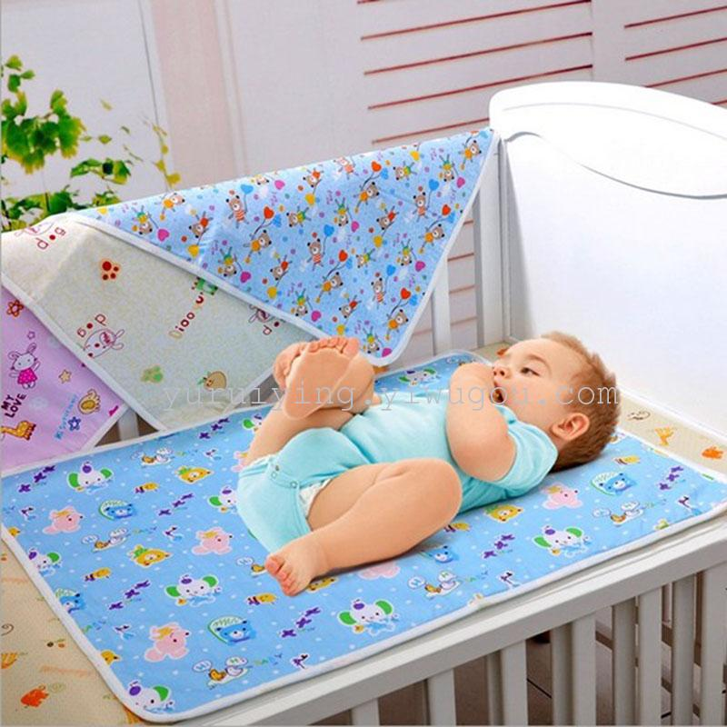 Baby Bedding Waterproof Cartoon Baby Mat Baby Pads Comfort Ice Silk Newborn Mattress Mattresses
