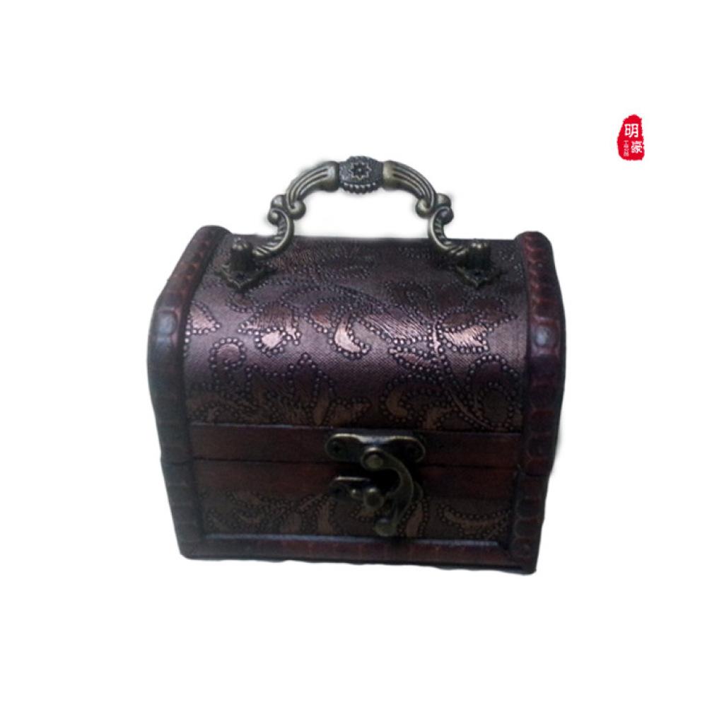 欧式复古木质首饰盒 中式古典仿古百宝箱