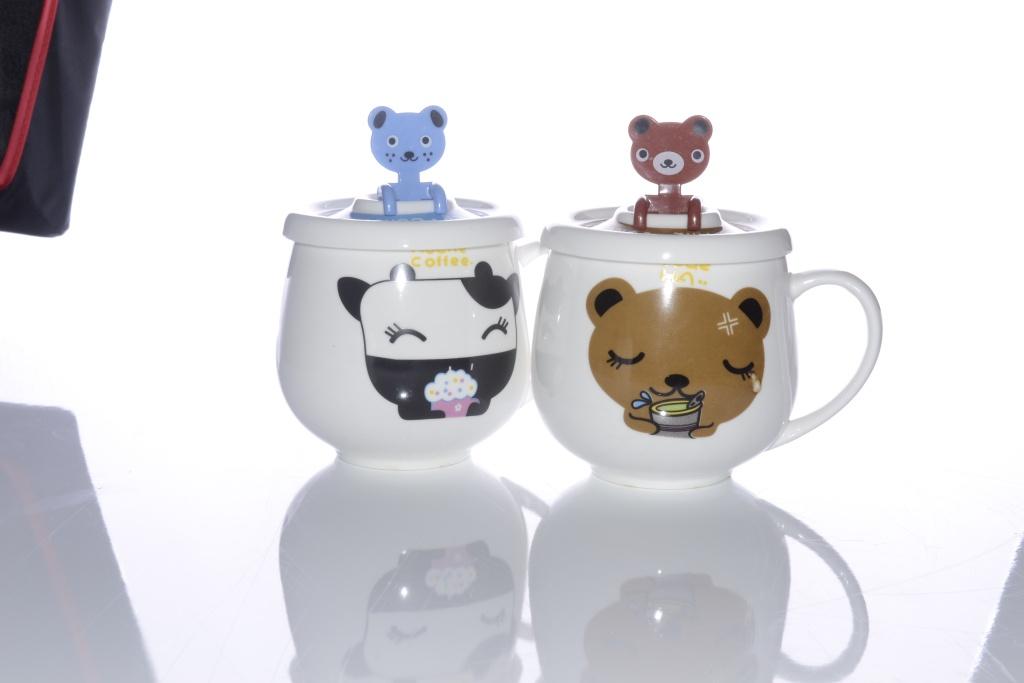 彩色动物陶瓷杯