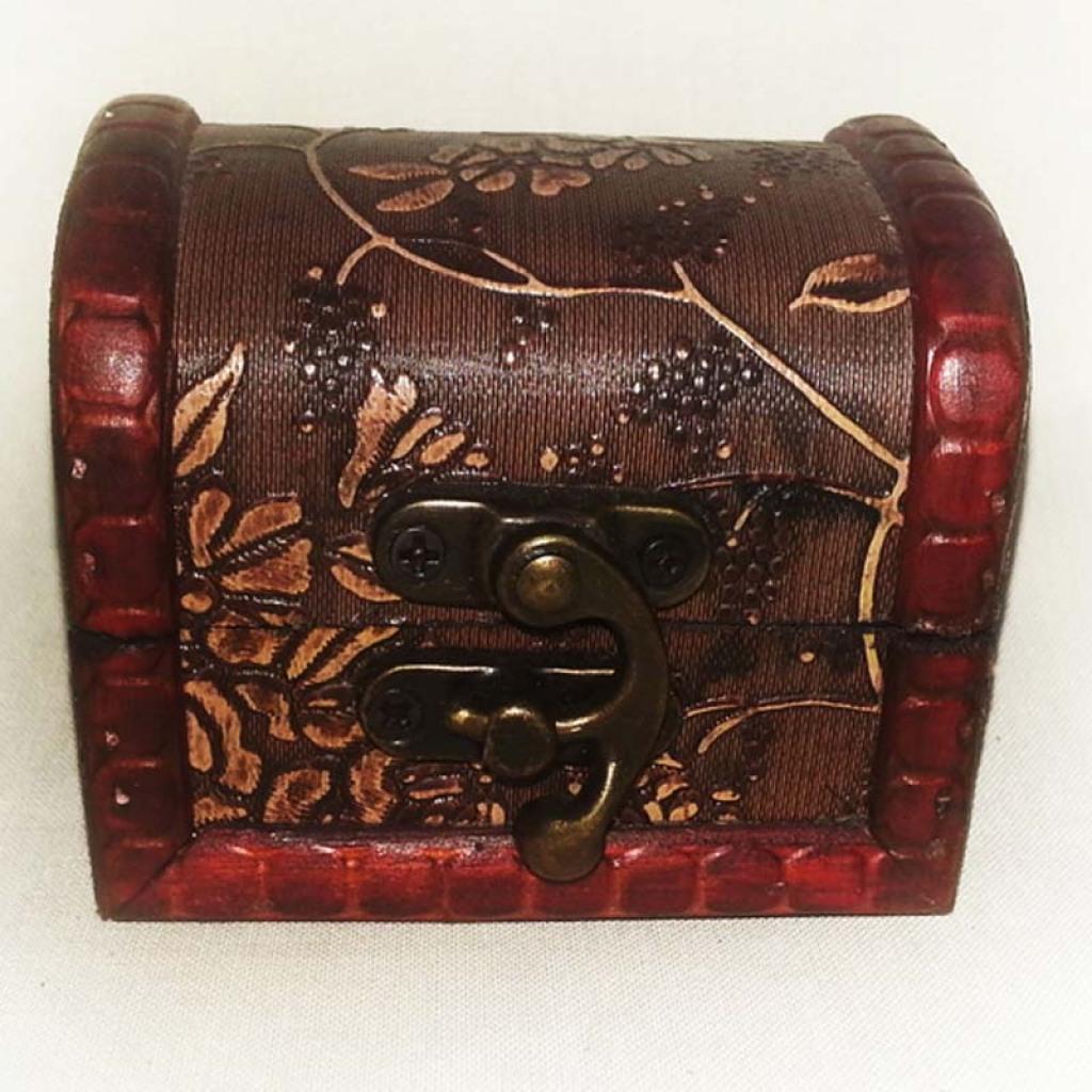 欧式复古木质工艺品首饰盒