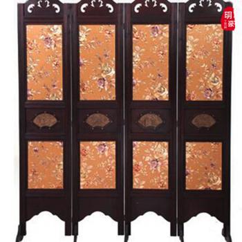中式屏风隔断 实木古典客厅镂空雕刻 折叠屏风