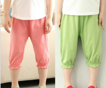 Korean children in summer bloomers of seven mosquito pants cotton linen material boys leggings