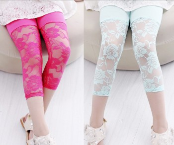 Summer Korean modal girls cropped trousers Candy-colored children's leggings