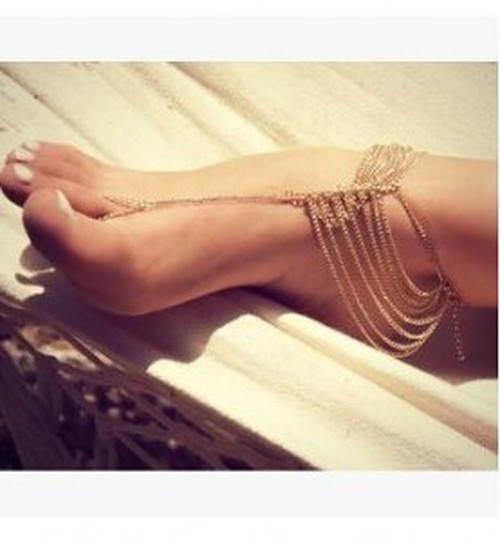 Aliexpress explosions Europe Trade hot legs adorned new Joker in summer heat multi-layer chains and anklets