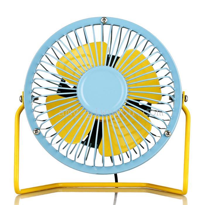 Supply 8 Inch Usb Mini Fan Ultra Mute Iron Fan 360 Degree