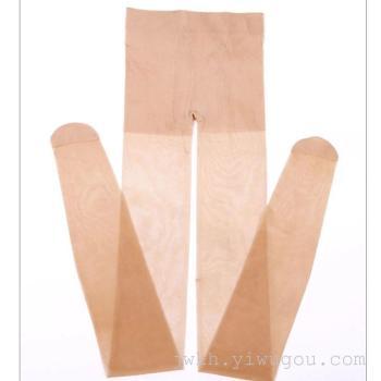 Langsha silk stockings pantyhose summer slim 15D upshift color black tights yield