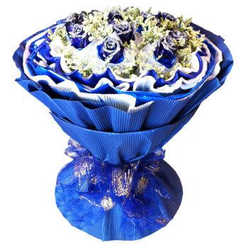 单色素色瓦楞纸鲜花包装纸材料批发 手工纸包卡通花束 花店用品