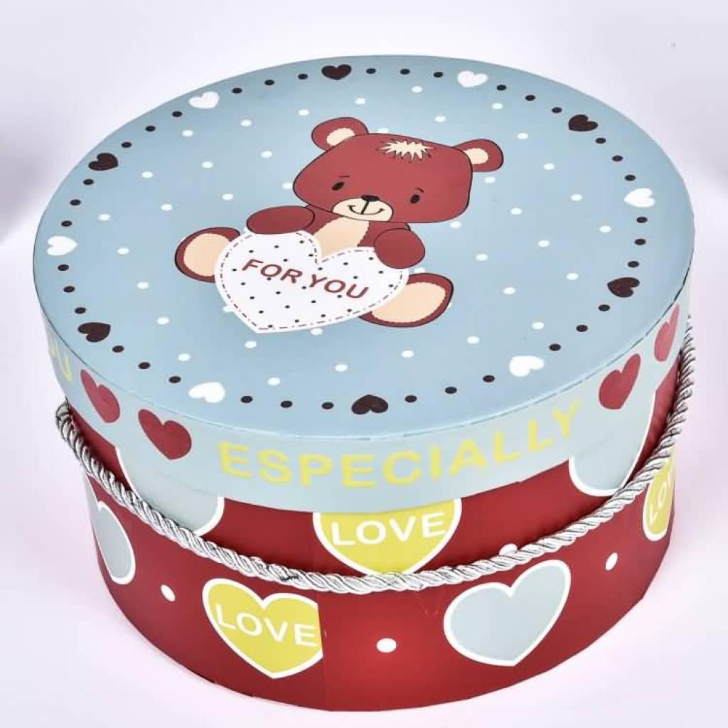 批发圆形礼品盒卡通动物包装盒子来样定做礼品包装盒