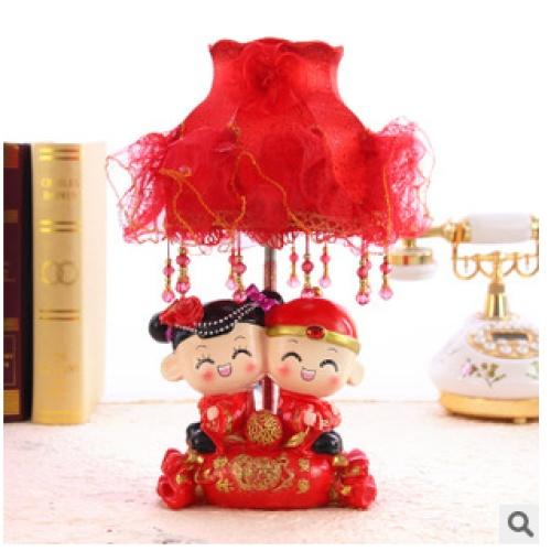 创意结婚礼物 新婚时尚礼品 婚庆娃娃台灯百年修得 婚房装饰