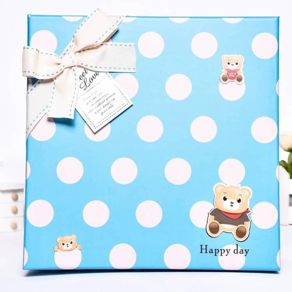 批发定做新韩流纸质包装盒高档时尚礼品盒卡通包装礼品盒1-30
