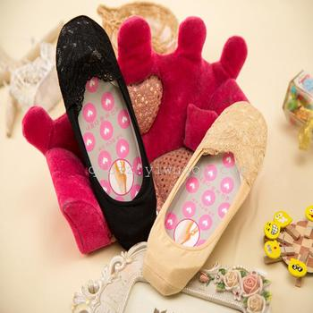 Invisible socks thin summer silk lace invisible socks soles non-slip silicone invisible socks