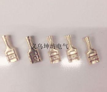 6.3插簧汽车接线端子 摩托车插簧 电瓶车插簧