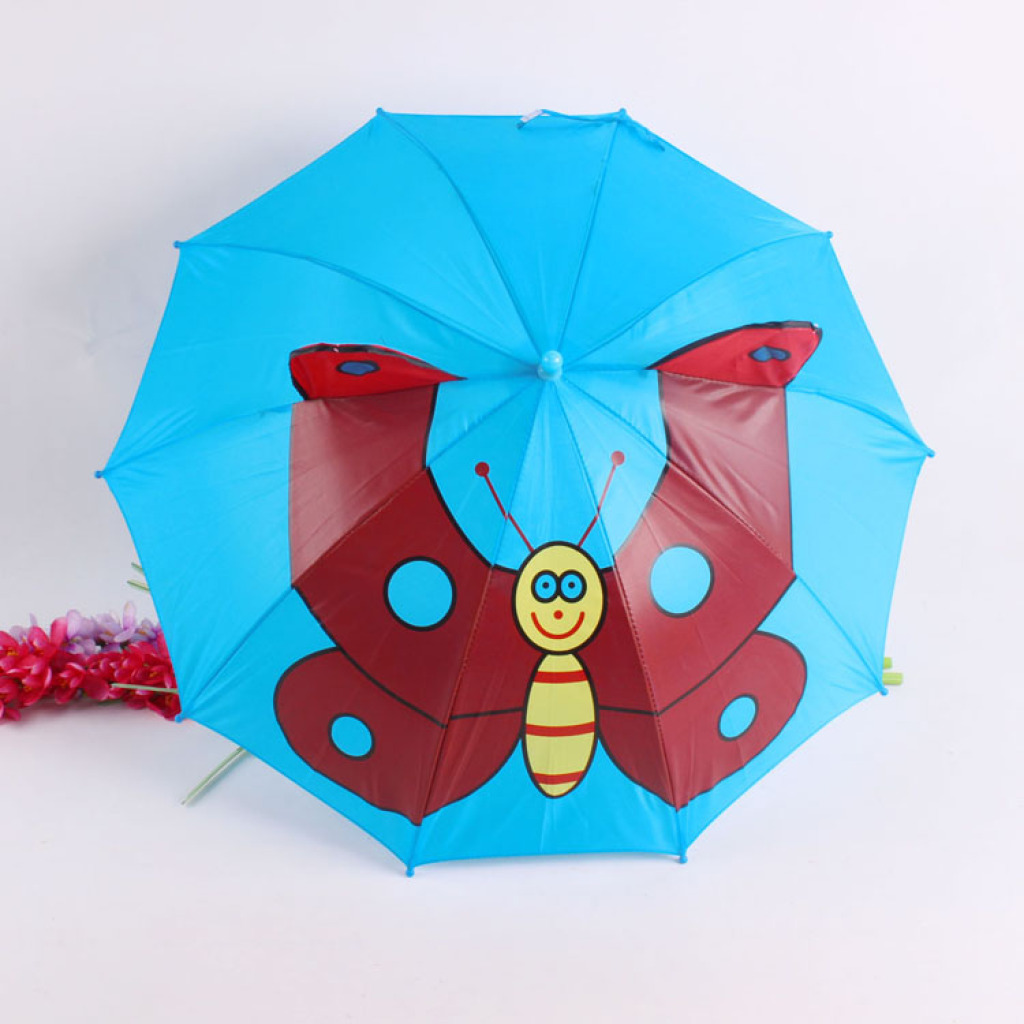 卡通蝴蝶儿童雨伞 可爱耳朵伞