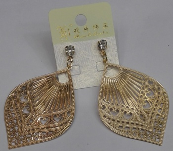 Fashion accessories, Korean version of earrings, metal earrings, copper earrings, computer chip earrings jewelry