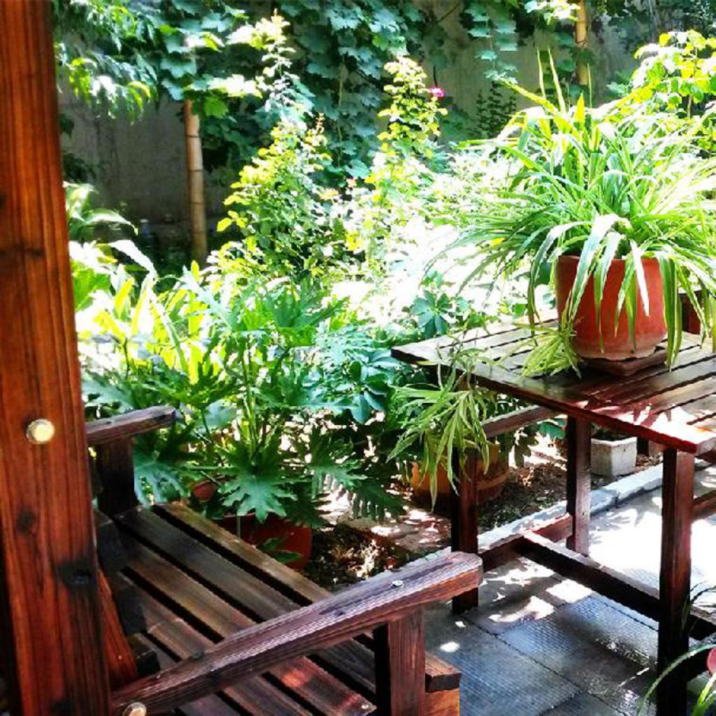 庭院碳化木防腐木屋子户外家具