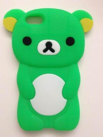 萌萌轻松熊手机壳,硅胶萌萌轻松熊手机保护套