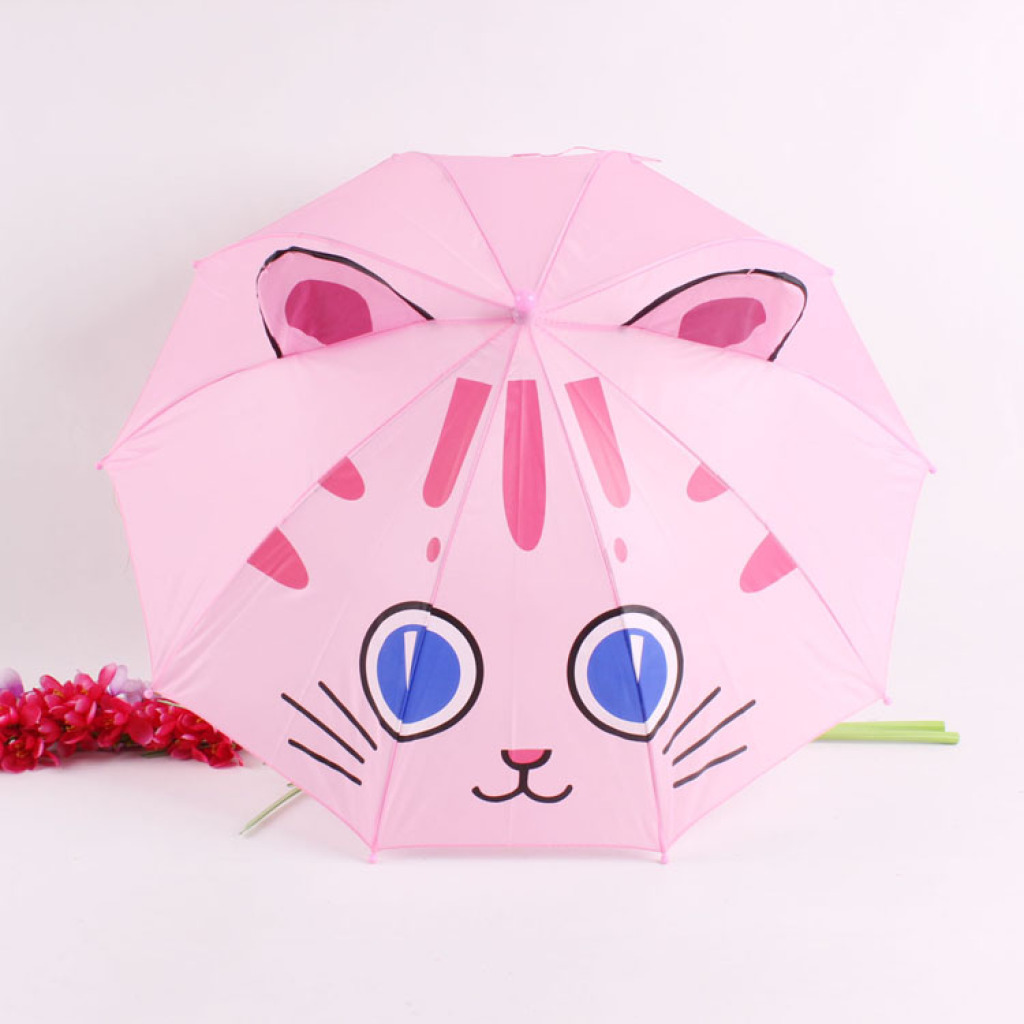 儿童雨伞 可爱卡通耳朵伞 外贸伞