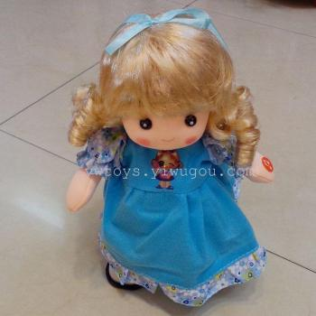 Manufacturers selling electronic toys bubble head doll variety multi-color dress electric walking singing doll