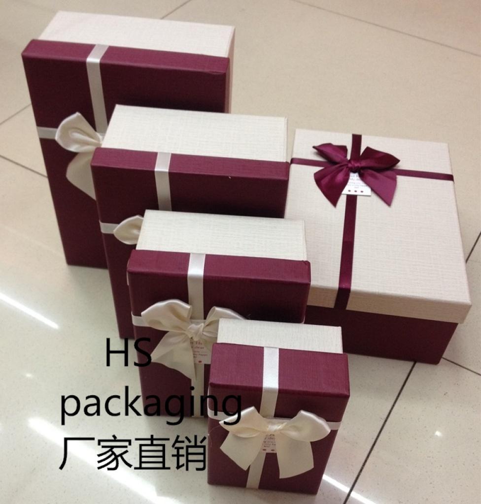 欧式最新款长方形四件套礼品盒