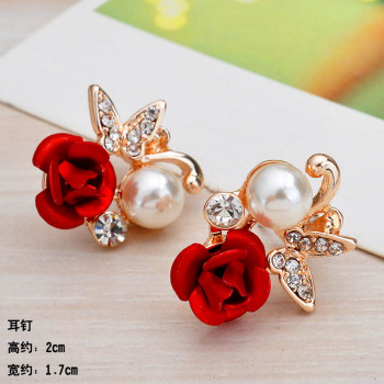 Postage new Korea earrings, crystal earrings exaggerate individuality d female Korean fashion earrings Korea jewelry