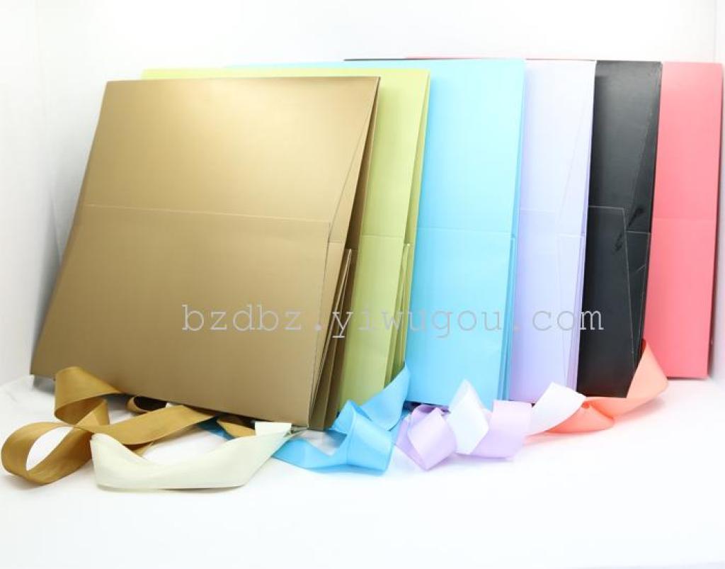 四方袋 多种颜色 纯色礼品袋 厂家直销 精美购物袋