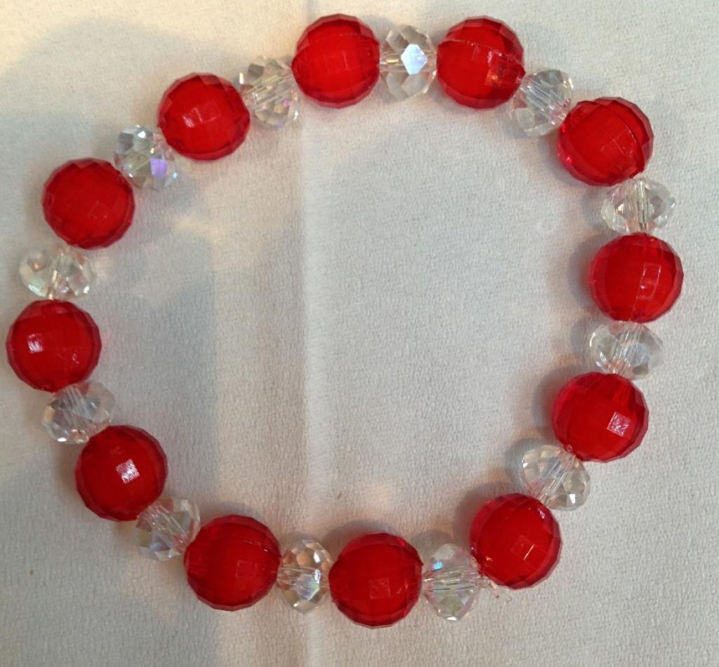 珠子手链玻璃杜邦尼龙丝图片