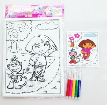 diy填色玩具贴画 幼儿园涂鸦画