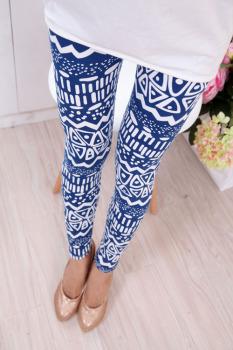 Elastic thin leggings pants spring/summer 2015 geometry