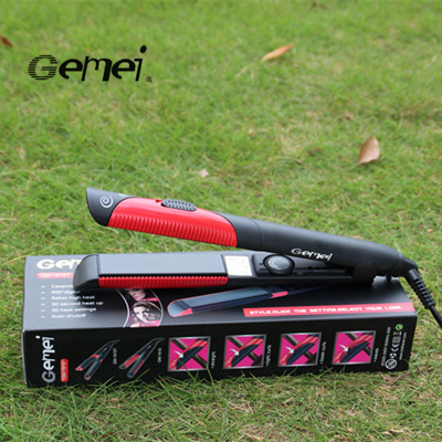 Gemei 1919 hair straightener perm browser for foreign trade temperature adjustable hair curling iron and straightener