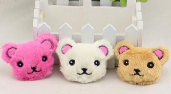 Set small stuffed animal heads Xiong Gongzi Yiwu plush cartoon head children's socks shoes accessories wholesale
