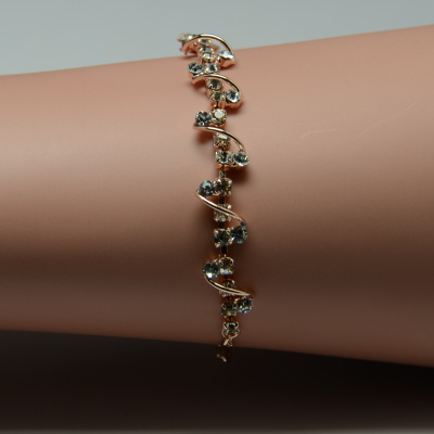 Minnie rose gold Austria rhinestone chain bracelet