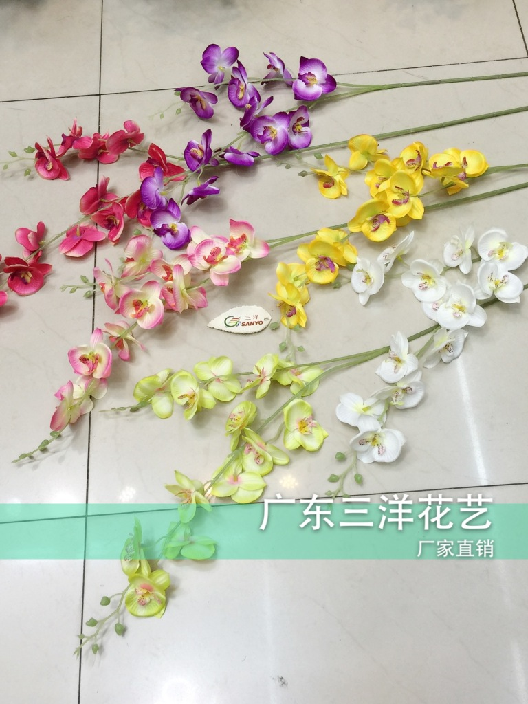 Supply Factory Direct Double Artificial Flowers Of Phalaenopsis