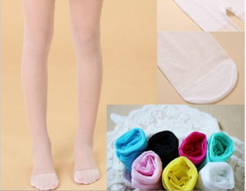 Transparent core thin summer silk pantyhose Candy-colored socks girls dancing for children to make stockings wholesale