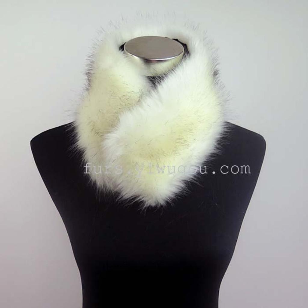 高档狐狸毛围巾 皮草围脖 裘皮围巾 外贸围巾披肩
