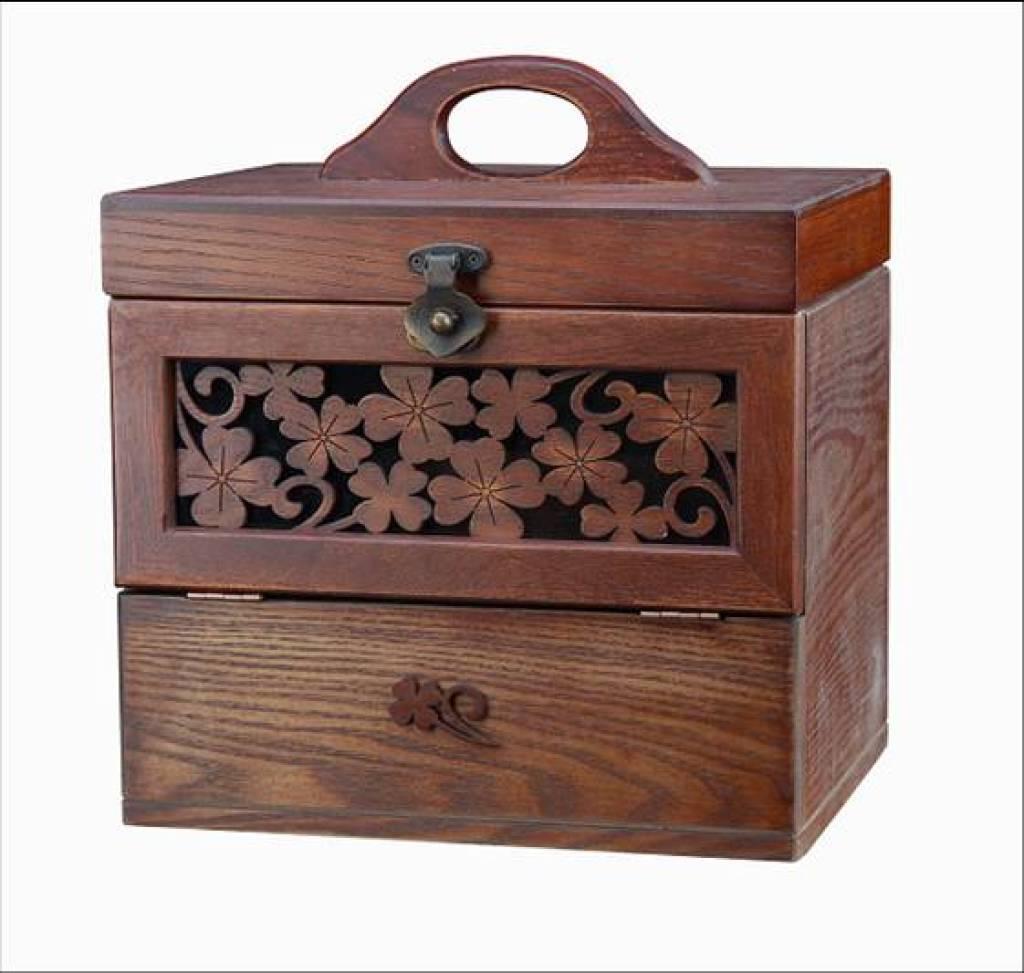 供应实木雕刻遥控器盒 首饰盒珠宝盒