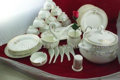 Ceramic bowl porcelain bowl bowl in Jingdezhen set bone china tableware ceramic tableware
