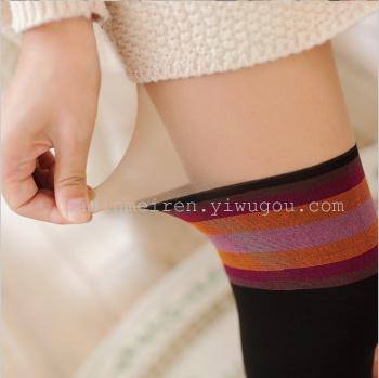Spliced spliced long panty stockings striped knee high tube pantyhose