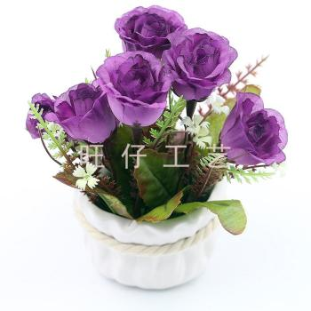 Simulation simulation of bonsai Twine vase pot potted small potted artificial flowers decoration