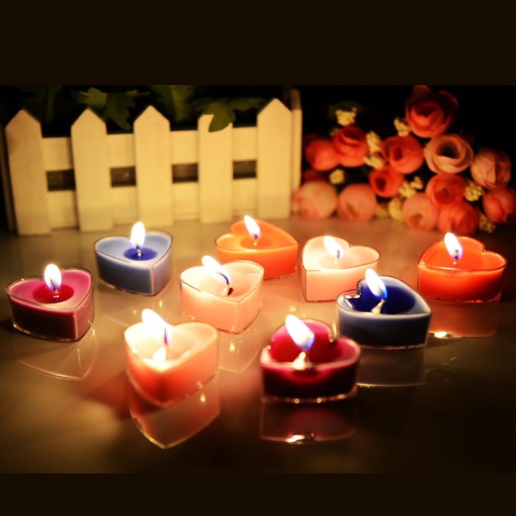 创意求婚表白心形无烟蜡烛婚爱心蜡烛