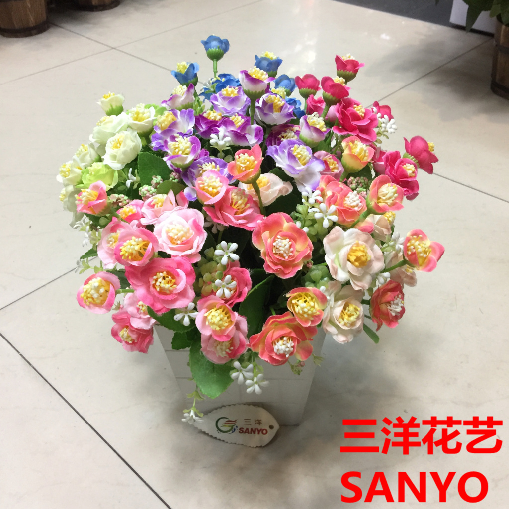 Supply Fireworks Rose Artificial Flower Factory Outlet 15 Plastic