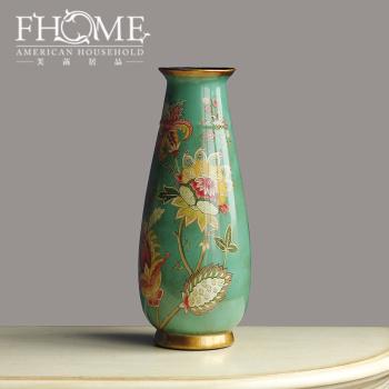 Exquisite decorative ornaments crafts sunflower collar flower vases home decoration ornament fine porcelain vases