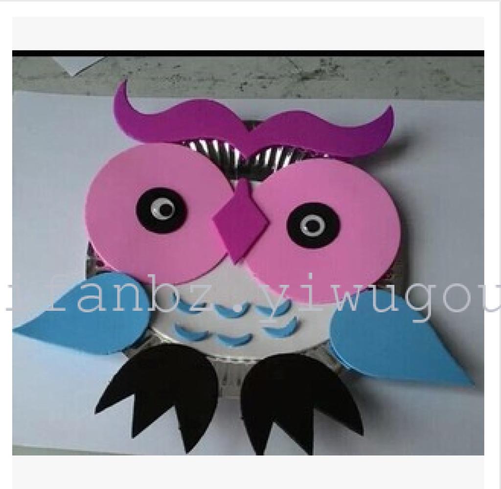 幼儿园手工自制纸盘动物材料包儿童diy制作创意多款