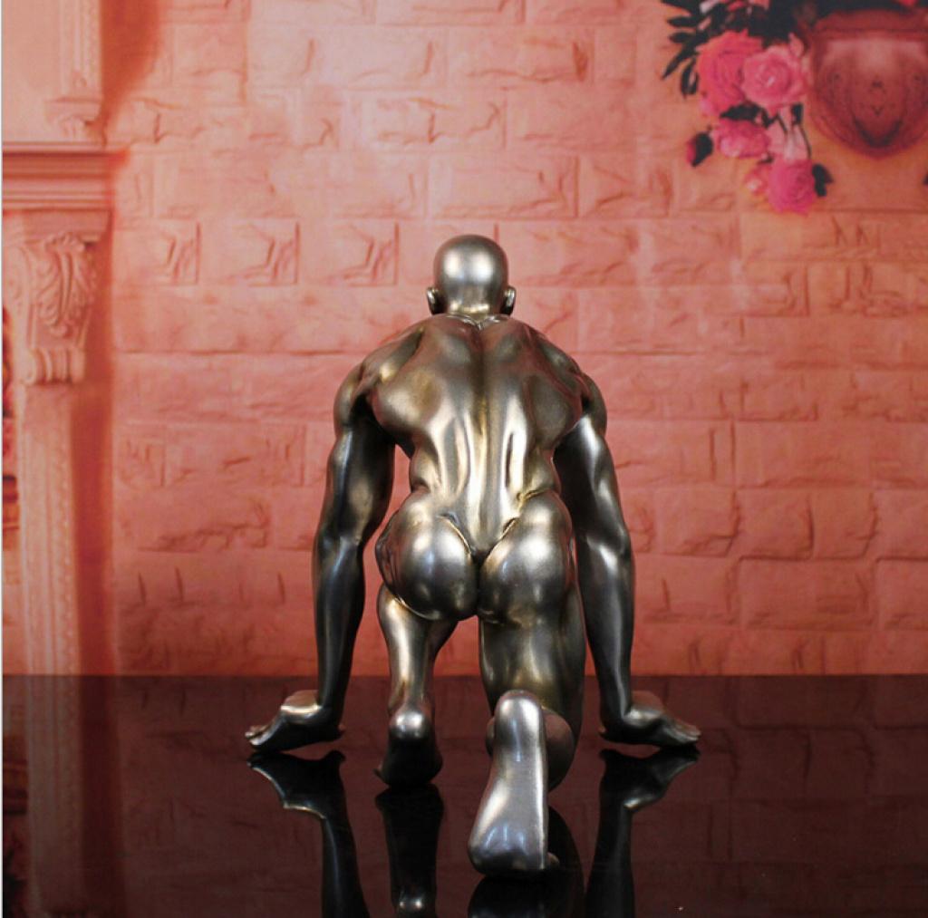 创意家居装饰品人物摆件欧式抽象雕塑客厅摆设