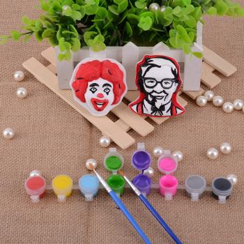 Painted gypsum   KFC-011 educational toys   gypsum painting suit   stationery