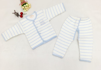 Morning Asahi Bebe newborn baby fall/winter thermal underwear suit baby strap padded spring cotton