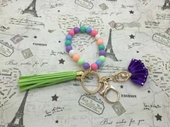 Creative Korean key chain Keychain accessories fashion color bracelet Princess key chain trinkets widgets